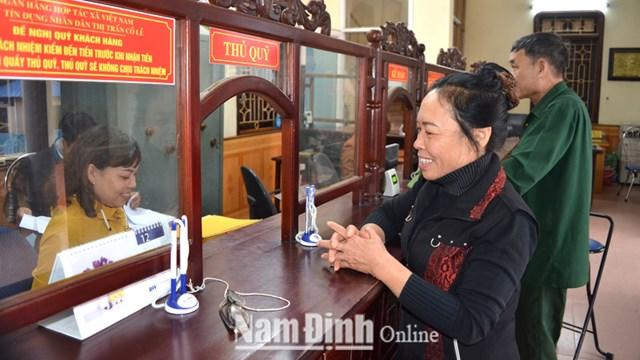 Quỹ Tín dụng nhân dân Thị trấn Cổ Lễ (Trực Ninh-Nam Định) nơi xảy ra sự việc. Ảnh: Báo Nam Định.