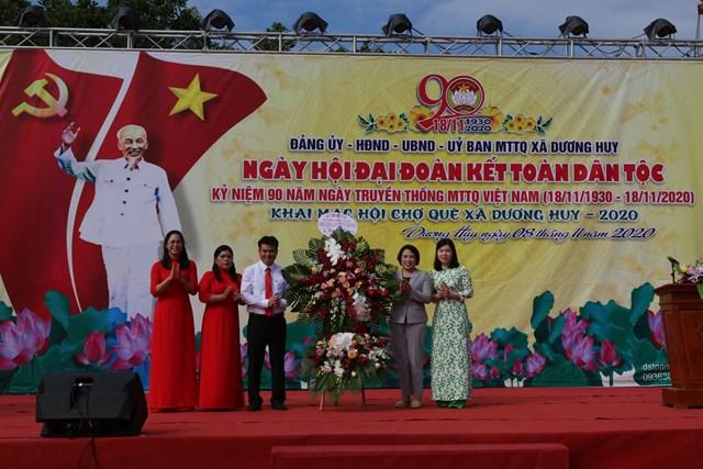 Xã Dương Huy kỷ niệm 90 năm ngày truyền thống MTTQ Việt Nam
