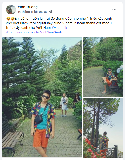 Kevin Vinh Truong – Facebook của một bạn trẻ đang sống ở Úc cũng chia sẻ về mong muốn đóng góp cây xanh cho đất nước