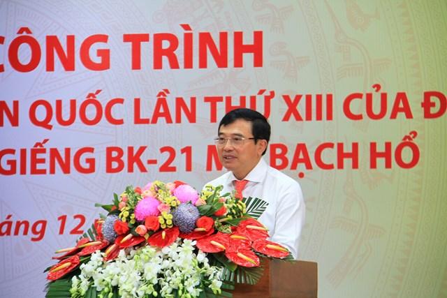 Ông Hoàng Quốc Vượng, Bí thư Đảng ủy, Chủ tịch HĐTV Petrovietnam phát biểu tại buổi lễ.