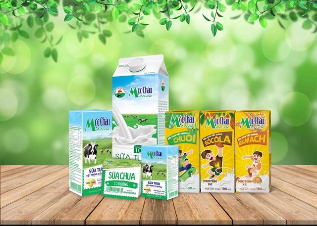 Các sản phẩm của công ty Mộc Châu Milk