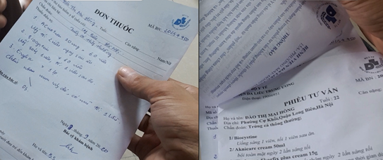 """Bệnh viện Da liễu TƯ:  """"Kẹp"""" thực phẩm chức năng vào đơn thuốc để móc tiền người bệnh"""