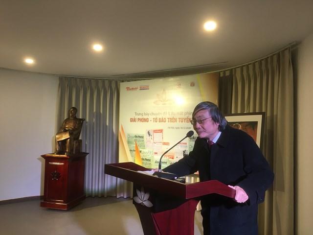 Ông Nguyễn Quốc Khánh - nguyên Phó TBT báo Đại Đoàn Kết phát biểu tại lễ ra mắt.