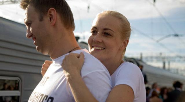 ÔngAlexei Navalny và bàYulia Navalnaya. (Nguồn: Sưu tầm).