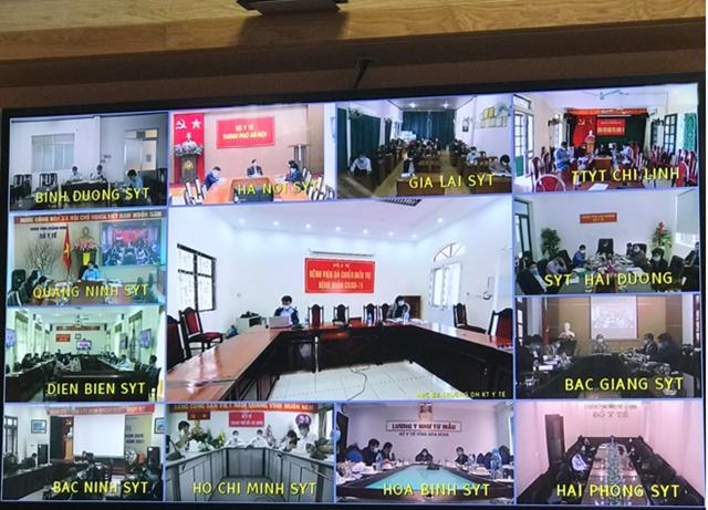 Các điểm cầu tham gia cuộc họp trực tuyến sáng ngày 5/2. Nguồn: Trần Minh.