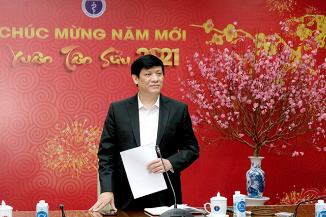 GS.TS Nguyễn Thanh Long-Bộ trưởng Bộ Y tế phát biểu tại cuộc họp. Nguồn: Trần Minh