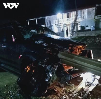 Hiện trường vụ tai nạn tại xã Chiềng Pha, huyện Thuận Châu (Sơn La). Nguồn: VOV.