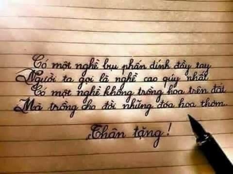 Những vần thơ mang đầy ý nghĩa gửi đến các thầy cô. (Nguồn: Sưu tầm)