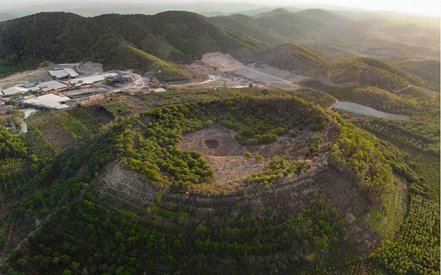 Núi lửa Băng Mo, thị trấn Ea T'ling, huyện Cư Jút, tỉnh Đắk Nông. (Nguồn: Daknonggeopark).