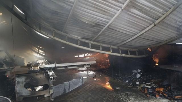Vụ cháy gây thiệt hại nhiều tài sản. (Nguồn: Sưu tầm).