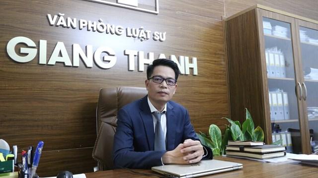 Luật sư Phạm Kỳ Dương - Văn phòng Luật sư Giang Thanh. (Nguồn: Lan Anh)