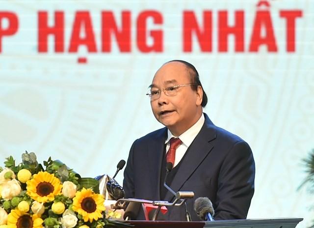Thủ tướng Nguyễn Xuân Phúc phát biểu tại Hội nghị. Ảnh: VGP/Quang Hiếu.