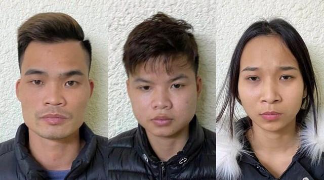 Từ trái sang: Hoàng Thanh Bình, Nguyễn Đức Anh và Doãn Thị Hằng.