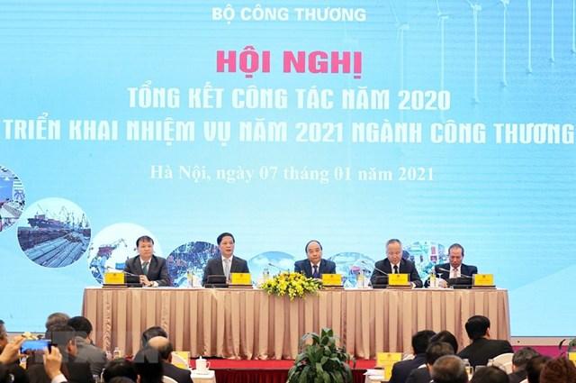 [ẢNH]Thủ tướng dự Hội nghị triển khai kế hoạch năm 2021 ngành Công Thương - Ảnh 5