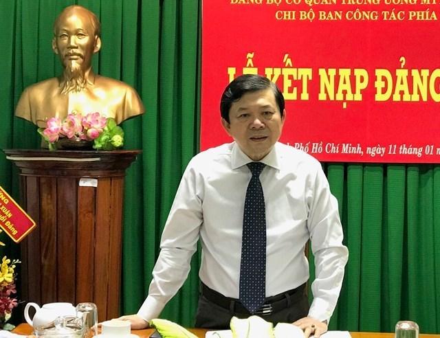 Phó Chủ tịch Nguyễn Hữu Dũng phát biểu tại buổi họp tổng kết Ban công tác phía Nam.
