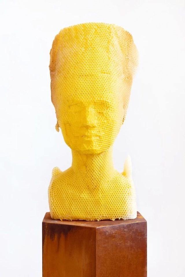 Nghệ sĩ Tomáš Libertíny đã làm việc cùng với ong để tạo ra bức tượng bán thân Nefertiti có tên là Eternity.