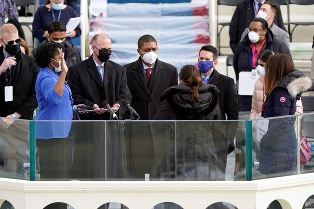 Diễn tập lễ tuyên thệ nhậm chức của Phó Tổng thống đắc cử Kamala Harris.