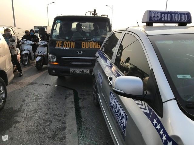 Hai chiếc xe liên quan vụ tai nạn.