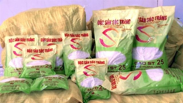 Gạo ST25 giả mạo tràn lan trên thị trường.