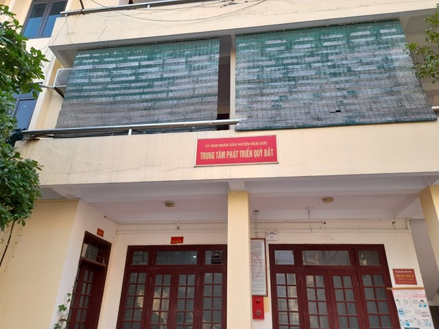 Trụ sở Trung tâm Phát triển quỹ đất huyện Hoài Đức.