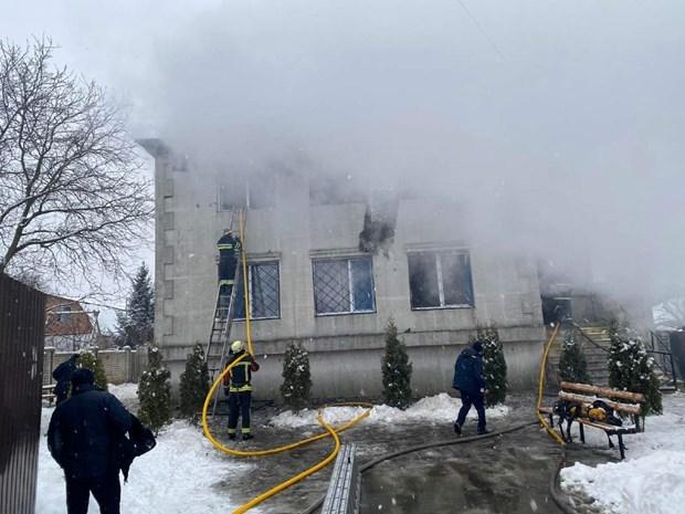 Hiện trường vụ cháy. Ảnh: Reuters.