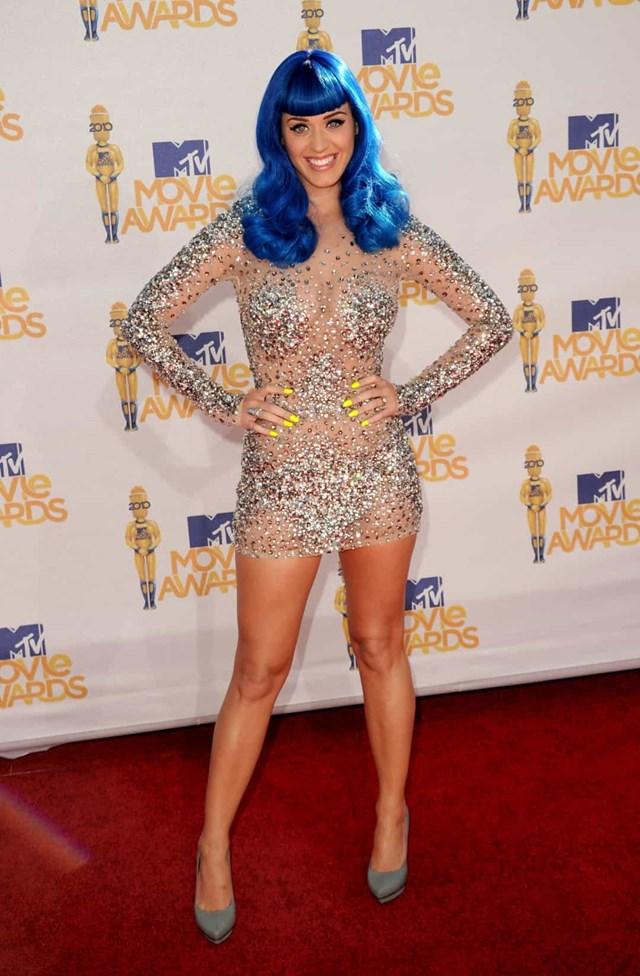 Katy Perry chói sáng tại lễ trao giải MTV Movie Awards 2010.
