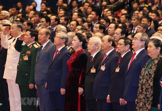 [ẢNH] Hình ảnh lễ khai mạc trọng thể Đại hội lần thứ XIII Đảng - Ảnh 1