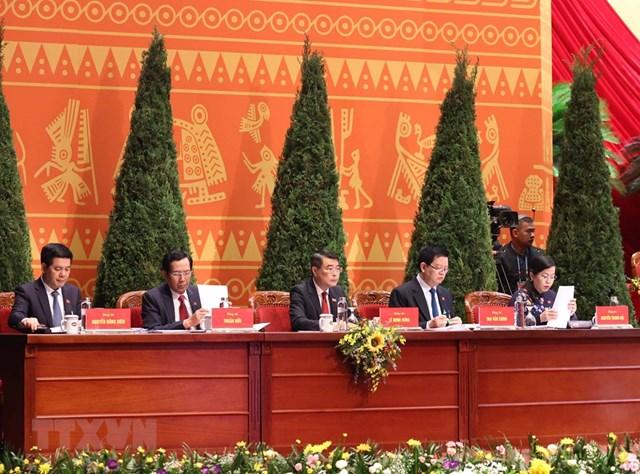 Đoàn Thư ký Đại hội gồm 5 thành viên. Ảnh: TTXVN0.