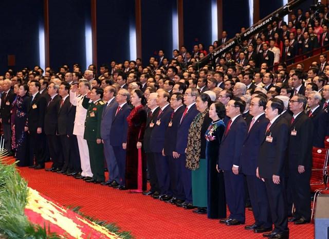 [ẢNH] Hình ảnh lễ khai mạc trọng thể Đại hội lần thứ XIII Đảng - Ảnh 2
