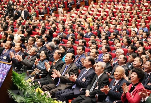 [ẢNH] Hình ảnh lễ khai mạc trọng thể Đại hội lần thứ XIII Đảng - Ảnh 9