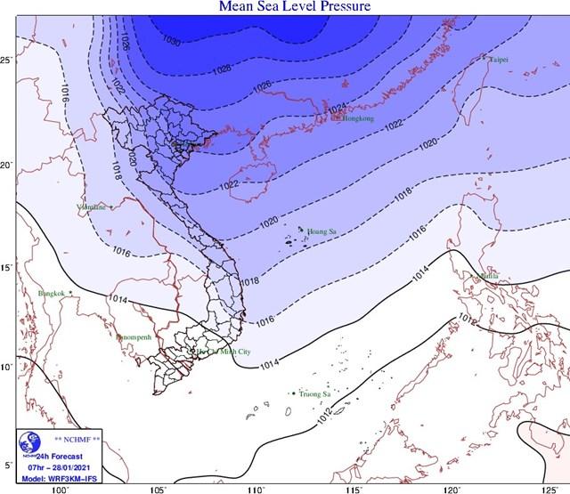 Không khí lạnh vào miền Bắc, hôm nay trời trở lạnh - Ảnh 1