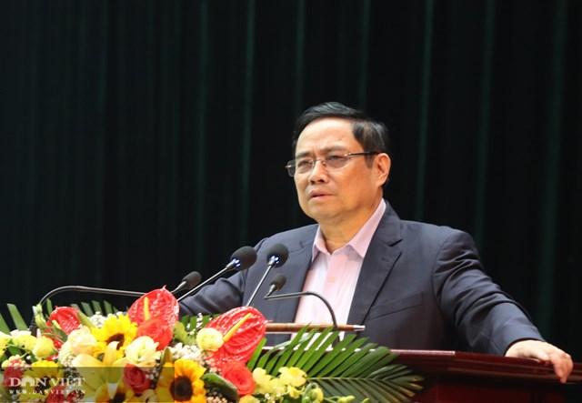 Ủy viên Bộ Chính trị, Trưởng ban Tổ chức Trung ương Phạm Minh Chính phát biểu tại buổi làm việc.