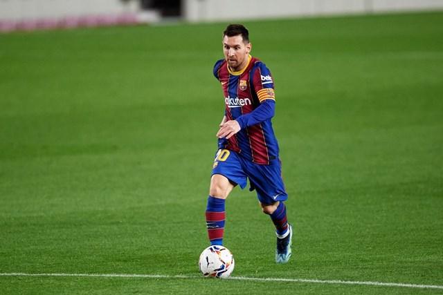 Dù chỉ vào sân từ ghế dự bị nhưng Messi đã kịp thời có được bàn thắng quan trọng giúp Barca thắng Betis. Ảnh: Getty.