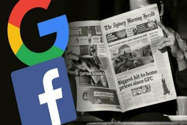"""Các gã khổng lồ công nghệ bị quy kết là """"ăn trên lưng"""" báo chí."""