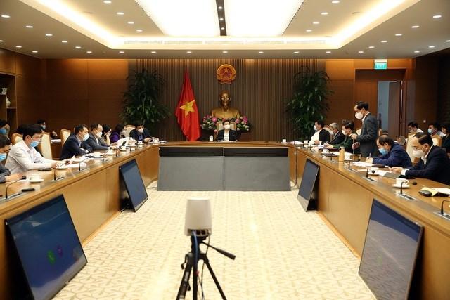 Ban chỉ đạo quốc gia về phòng chống dịch Covid-19 họp sáng 24/2, dưới sự chủ trì của Phó Thủ tướng Vũ Đức Đam.