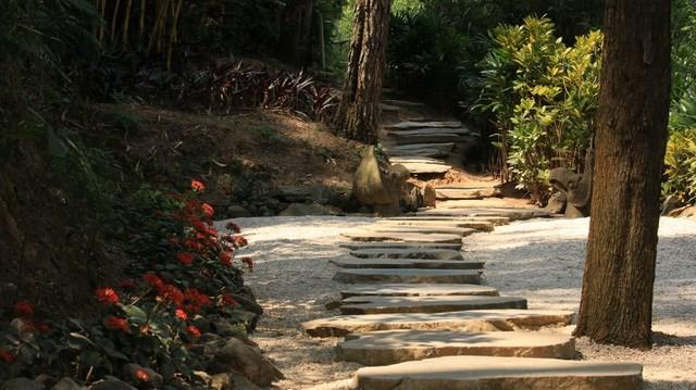 Đến chùa Địa Tạng ngoài vãn cảnh hành hương du khách còn có thể trải nghiệm leo núi, từ phía bên phải của chùa Địa Tạng chiêm ngưỡng những hang đá cùng thảm thực vật xanh tốt.