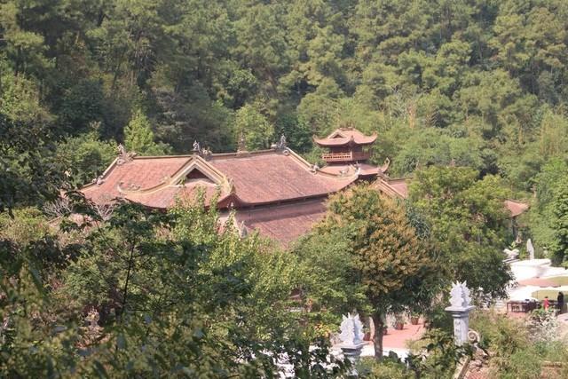 Hoặc lên đỉnh núi cao để ngắm nhìn toàn cảnh ngôi chùa ẩn mình trong rừng thông xanh.