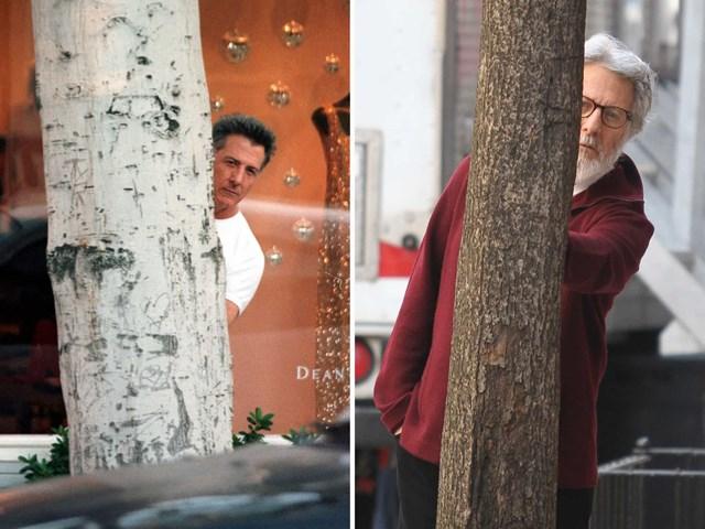 Dustin Hoffman đã thành thạo tránh các tay săn ảnh trong nhiều thập kỷ, anh luôn tìm ra điểm ẩn nấp hoàn hảo để che giấu bản thân.