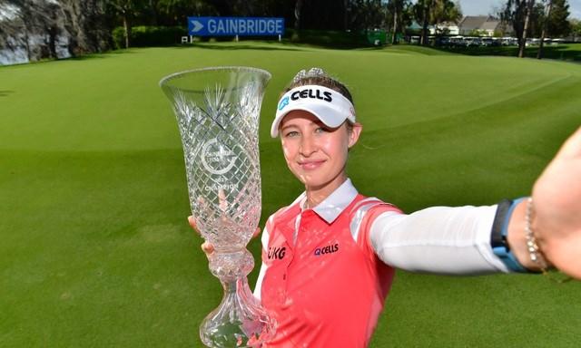Nelly Korda giành chức vô địch Gainbridge đầy thuyết phục và đây là danh hiệu LPGA Tour lần đầu tiên trong sự nghiệp.