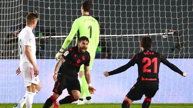 Portu đưa Sociedad vượt lên dẫn trước. Ảnh: Reuters.