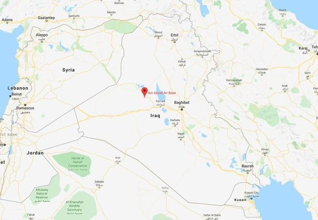 Căn cứ Ain Al Asad là nơi có binh sĩ Mỹ và Iraq đồn trú. Google Maps.