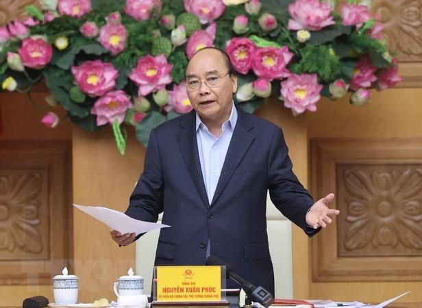Thủ tướng Nguyễn Xuân Phúc phát biểu. Ảnh: Thống Nhất/TTXVN.