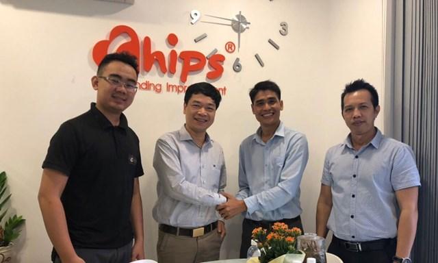 TGĐ Đặng Thái Nguyên của Chứng khoán Việt, có buổi làm việc tại văn phòng CHIPS.