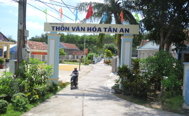 Khu dân cư nông thôn mới kiểu mẫu thôn Tân An (xã Xuân Sơn Nam, huyện Đồng Xuân, tỉnh Phú Yên).