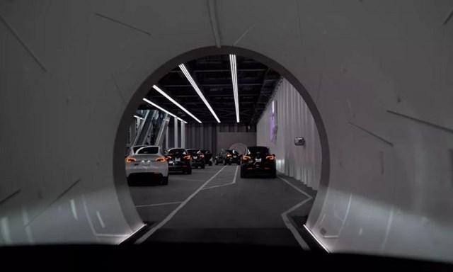 Đường hầm Loop bên dưới Trung tâm hội nghị Las Vegas. Ảnh: Boring Company.