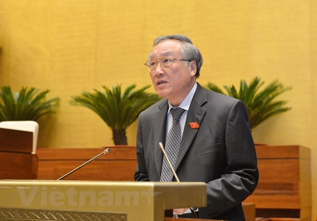 Chánh án Toà án nhân dân tối cao Nguyễn Hòa Bình. Ảnh: TTXVN.