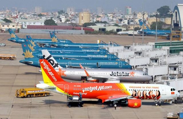 90% máy bay nằm tại sân bay mùa cao điểm.