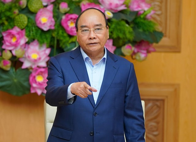 Thủ tướng Nguyễn Xuân Phúc nêu rõ, khát vọng phát triển đất nước là yêu cầu rất quan trọng đối với cán bộ ngoại giao. Ảnh: VGP.