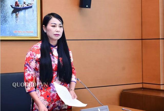 Bà Hoàng Thị Thuý Lan, Trưởng đoàn Đại biểu Quốc hội tỉnh Vĩnh Phúc. Ảnh: Quochoi.vn.