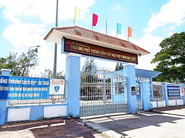 Trường Phổ thông Dân tộc nội trú Bạc Liêu, nơi cô Trần Thị Kim Dung gắn bó, giảng dạy từ nhiều năm qua.
